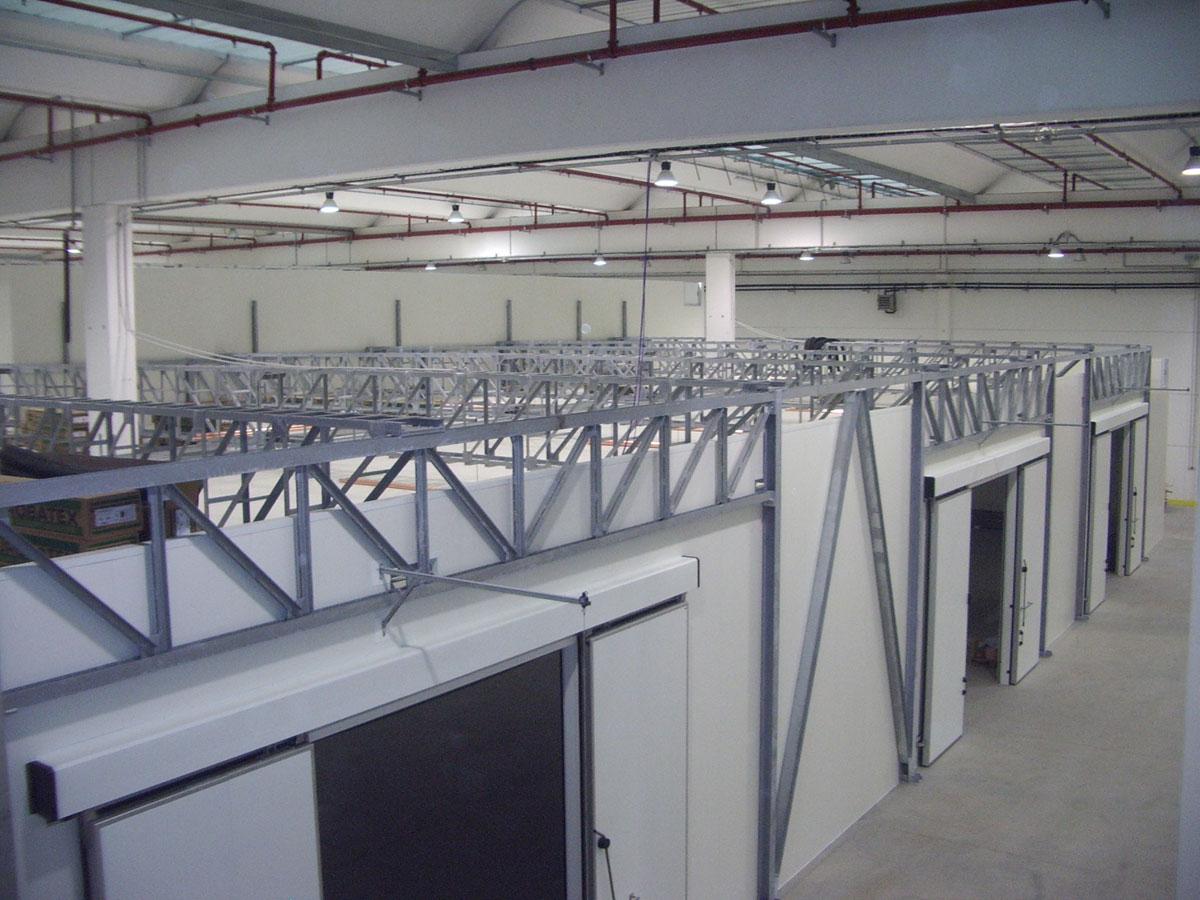 Strutture in acciaio per celle frigo
